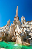 Neptune fountain in Piazza navona, Rome, Italy. — Stockfoto