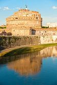 Castel Sant'angelo and Bernini's statue on the bridge, Rome, Italy. — Stock Photo