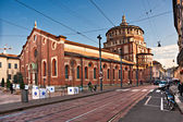 MILAN - DECEMBER 11: Santa Maria dlle Grazie. The church contain — Fotografia Stock