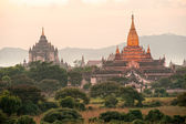 Bagan twilight, Myanmar. — Stock Photo