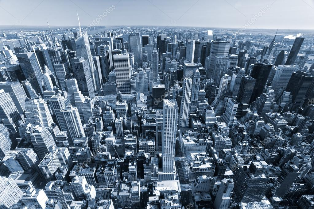 Aerial view of Manhattan, New York City. USA. — Stock Photo #12237088