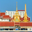 Temple on the Chao Praya River, bangkok, Thailand. - Stock Photo