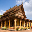 Buddhist temple in Vientiaine, Laos. - ストック写真