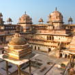 Orcha's Palace at sunset, India. - Stock Photo