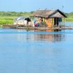Постер, плакат: Tipical House boat Cambodia