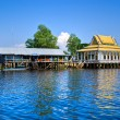 Floating House and temple on the Tonle sap lake, between Siem Re - Stock Photo