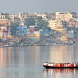 Stock Photo: View of varanasi, Uttar Pradesh, India.