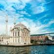 Ortakoy mosque and Bosphorus bridge, Istanbul, Turkey. — Stock Photo #12420736
