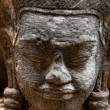 Buddha face, Sukhothai, Thailand. - Stock Photo