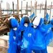 Three blue masks in Venice, Italy. — Foto Stock