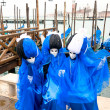 Three blue masks in Venice, Italy. — Stock Photo