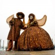Stock Photo: Two beautiful Carnival Masks, Venice.