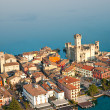 Scaliger Castle  in Sirmione by lake Garda, Italy - Stock Photo