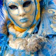 Stock Photo: White and blue mask, Venice.