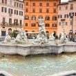 Neptune fountain in Piazza navona, Rome, Italy. - Stock Photo