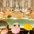 Stock Photo: Famous Trevi Fountain at night, Rome, Italy.