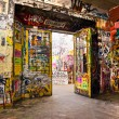 Stock Photo: BERLIN, JANUARY 8: The Kunsthaus Tacheles, formerly a department