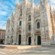 Vittorio Emanuele gallery and Duomo in Milan — Stock Photo