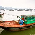 Постер, плакат: Boat in Cat ba Island Halong Bay Vietnam Unesco World Heritag