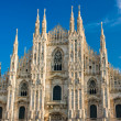 Vittorio Emanuele gallery and Duomo in Milan - ストック写真