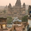 Orcha's Palace at sunset, India. - ストック写真