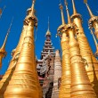 Stupas in Indein, Inle Lake, Myanmar. — Stock Photo