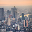 Bangkok Skyline at sunset, Thailand. - Stock Photo