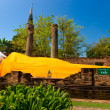 Stock Photo: Reclinig Buddha, Ayutthaya, Thailand,