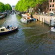 The Amsterdam canal system — Stock Photo