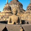 Sunrise at Borobudur Temple, Yogyakarta, Java, Indonesia. - Stok fotoğraf