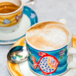 Stock Photo: Cappuccino and Coffe cup
