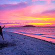 Stock Photo: Young Mover tropical sunset at Gili Meno, Indonesia.
