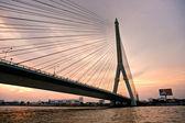 King Rama Bridge, Bangkok, Thailandia. — Stock Photo