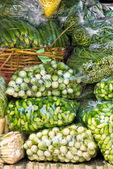 Fresh Vegetables in a market, bangkok. — Foto de Stock