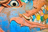 Close-up of a naga face in a buddhist temple, Luang Prabang, Lao — Stock Photo