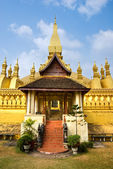 Wat Pha That Luang, Laos. — Stock Photo