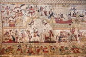 Typical painting on the wall of a Orcha's Palace, India. — Stock Photo