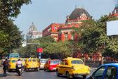 Street of Calcutta (Kolkata), West Bengal, India. — Stock Photo