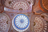 The beautiful decorated cupolas of the Blue Mosque, Istanbul, Tu — Stock Photo