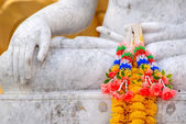 Flowers on a buddha hand — Stock Photo