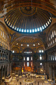 The beautiful decorated cupola of Hagia Sophia mosque, Istanbul, — Stock Photo
