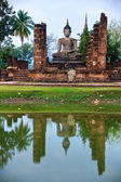 Wat Mahathat, Sukhothai, Thailand, — Stock Photo