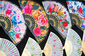 Close up of an authentic Japanese fans — Stock Photo