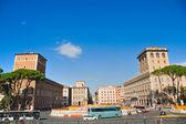 Piazza Venezia, Rome, Italy. — Stock Photo