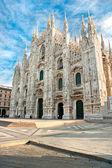 Vittorio Emanuele gallery and Duomo in Milan — Stock Photo