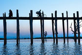 U bein bridge at Amarapura ,Mandalay, Myanmar. — Stock Photo