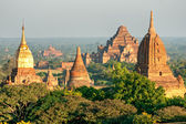 The plain of Bagan at sunset, Myanmar. — Stock Photo