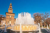 Sforza's Castle in Milan, Italy. — Stock Photo