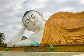 Giant sleeping Buddha, Bago, myanmar. — Stock Photo