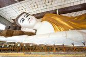 Shwethalyaung Buddha, Bago, myanmar. — Stock Photo